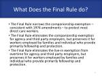 what does the final rule do