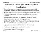 benefits of the simple afh approach mechanism