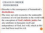 chaos order disorder