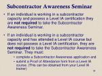subcontractor awareness seminar2