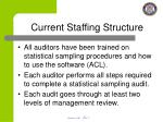 current staffing structure