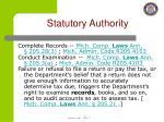 statutory authority1