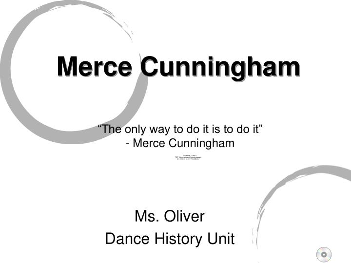 merce cunningham n.