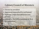 cabinet council of ministers