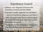 expediency council