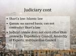 judiciary cont