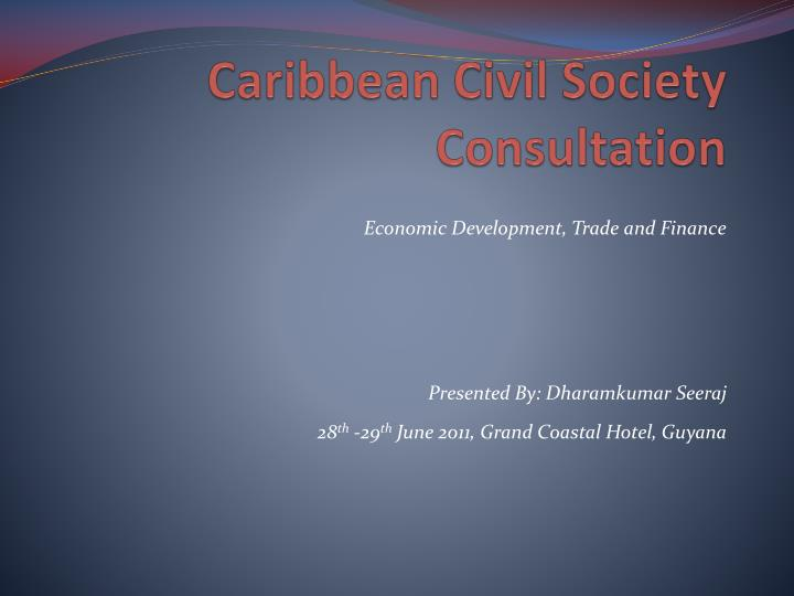 caribbean civil society consultation n.