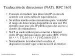 traducci n de direcciones nat rfc 1631
