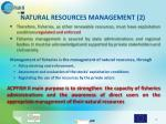 natural resources management 2