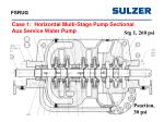 case 1 horizontal multi stage pump sectional aux service water pump