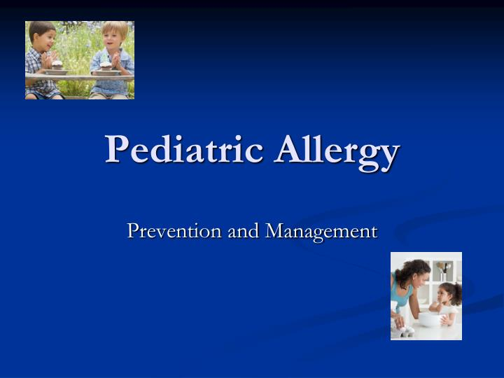 pediatric allergy n.