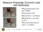 measure amperage current load with multimeter
