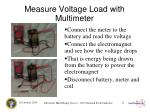 measure voltage load with multimeter
