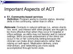 important aspects of act11