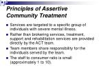 principles of assertive community treatment