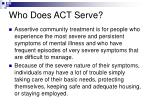 who does act serve