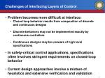 challenges of interfacing layers of control