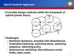 hybrid systems approach1