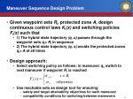maneuver sequence design problem