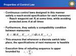 properties of control law