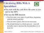 calculating irrs with a spreadsheet