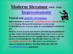 moderne literatuur 1850 1914 impressionisme