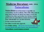moderne literatuur 1850 1914 naturalisme