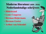 moderne literatuur 1850 1914 nederlandstalige schrijvers