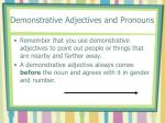 demonstrative adjectives and pronouns1