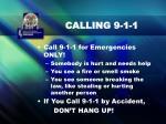 calling 9 1 1