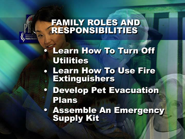 FAMILY ROLES AND RESPONSIBILITIES