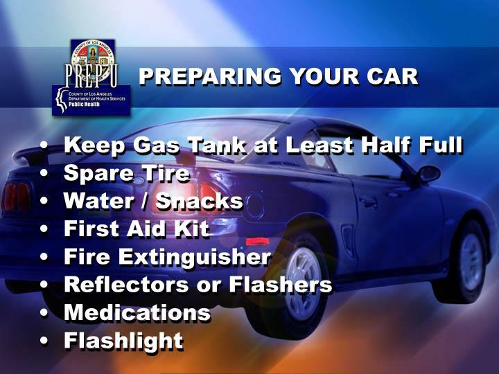 PREPARING YOUR CAR