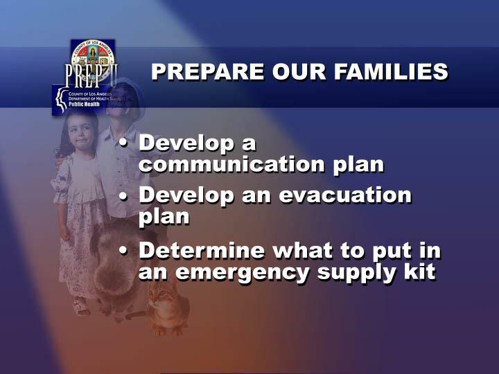 PREPARE OUR FAMILIES