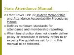 state attendance manual