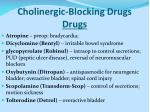 cholinergic blocking drugs drugs