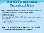 cholinergic blocking drugs mechanism of action