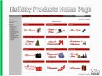 holiday products home page