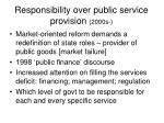 responsibility over public service provision 2000s