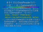 8 3 1 datareader command
