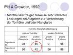 pitt crowder 1992