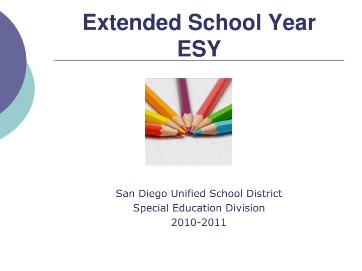 extended school year esy n.
