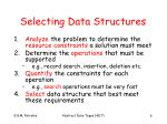 selecting data structures
