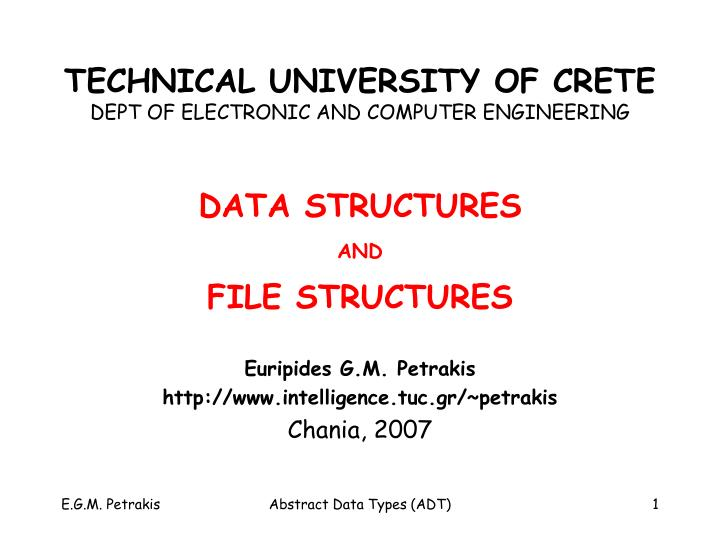 technical university of crete dept of electronic and computer engineering n.