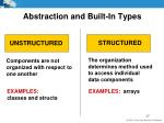 abstraction and built in types1