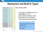 abstraction and built in types11