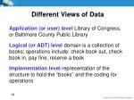 different views of data8