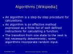 algorithms wikipedia