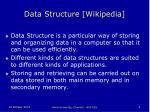 data structure wikipedia
