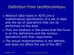 definition from techforum4you