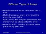 different types of arrays